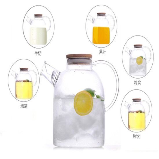 Heat resistant glass tea pot 04